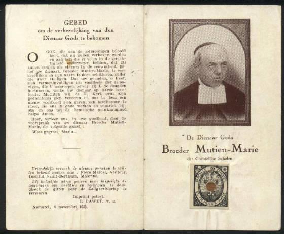 Mutien-Marie Wiaux Saint Mutien Marie Wiaux Relic